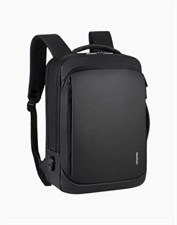MEINAILI 1901 Laptop Backpack 15.6-inch With USB Charging Port - Black & Grey