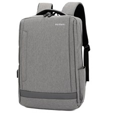 Meinaili 021 Men Casual Nylon Backpack with External USB Charging Headphone Jack