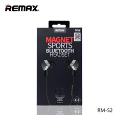 REMAX RM-S2 Sports Magnet Wireless Bluetooth Headset Can Answer Phone Stereo Headphone Mic Handsfree