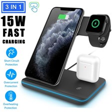 3 in 1 Charging Dock Holder Stand Charger Station for iPhone iWatch Airpod