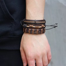 Men's Hands Leather bracelet