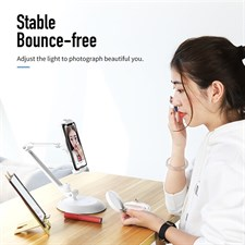 Rock Stable Adjustable Clip Flexible Arm 360 Degree Rotation Desktop Holder Stand for Mobile Phone T