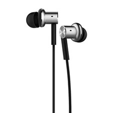 Mi In-Ear Headphones Pro Silver Dual Driver Earbuds with Mic