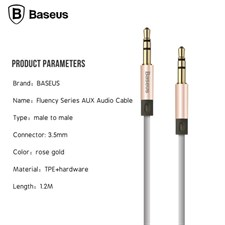 BASEUS Fluency Series 2M AUX Audio Cable - GRAY