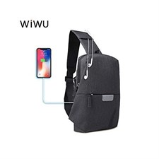 WIWU Cross Body Bag Pack USB Charging Interface And Hidden Handsfree Jack