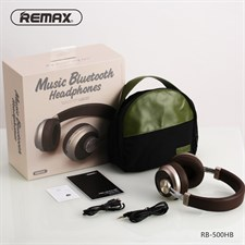 REMAX RB-500H Over-ear Adjustable AUX-in Stereo HIFI V4.1 Bluetooth Headphone With Mic