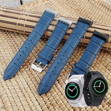 Genuine Leather Watch Band Strap For Samsung Gear S2 R720 and R730 Models