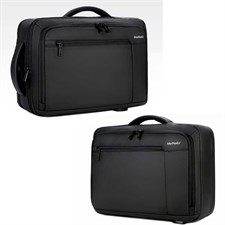 Meinaili 1805 Nylon Business Travel Backpack Laptop Bag with USB Port - Black