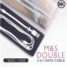 WK M&S 2 in 1 Lightning Micro Usb Double Data Cable