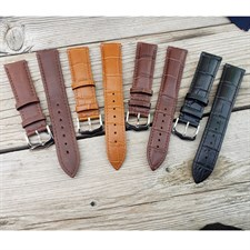 22mm Width Universal Genuine Leather Watch Band Strap For Galaxy Watch 46mm And All Other 22mm Width